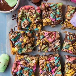 Springtime Rocky Road Blondies #SpringSweetsWeek