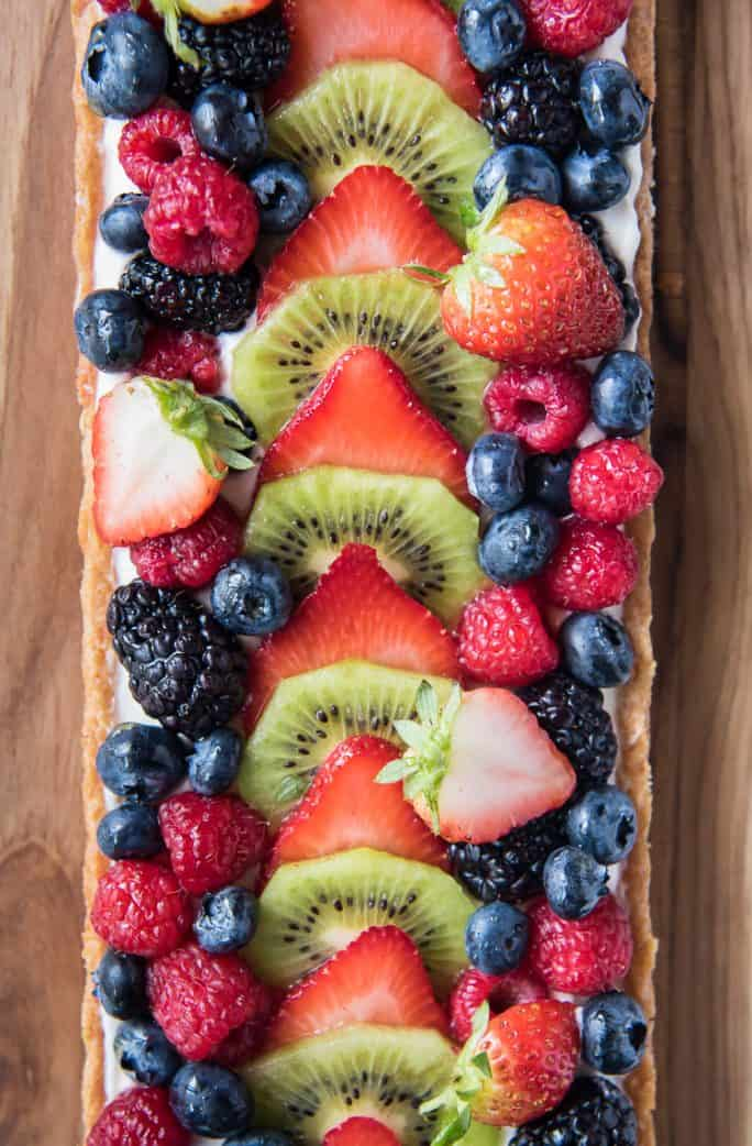 Whipped Yogurt Fruit Tart
