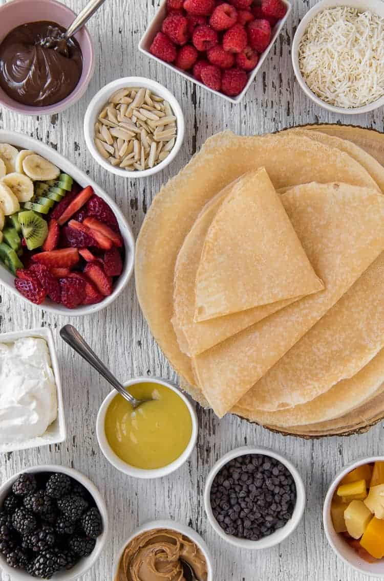 How to Build A Crepe Bar #BrunchWeek