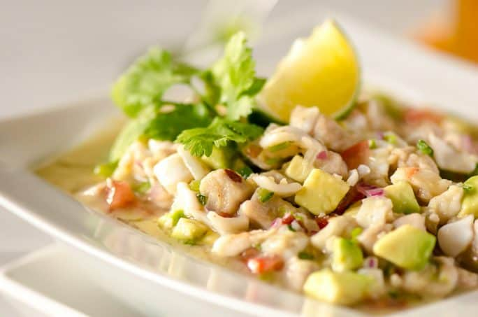 A bowl of Margarita Ceviche recipe