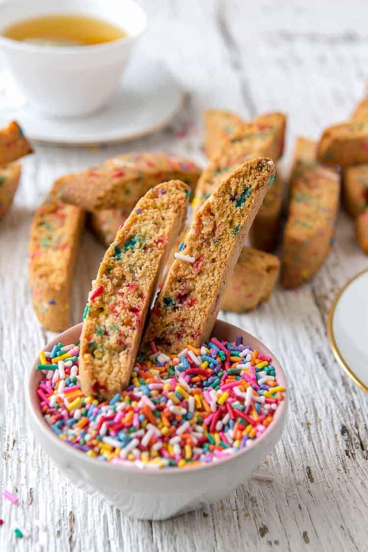 Rainbow Biscotti #BrunchWeek
