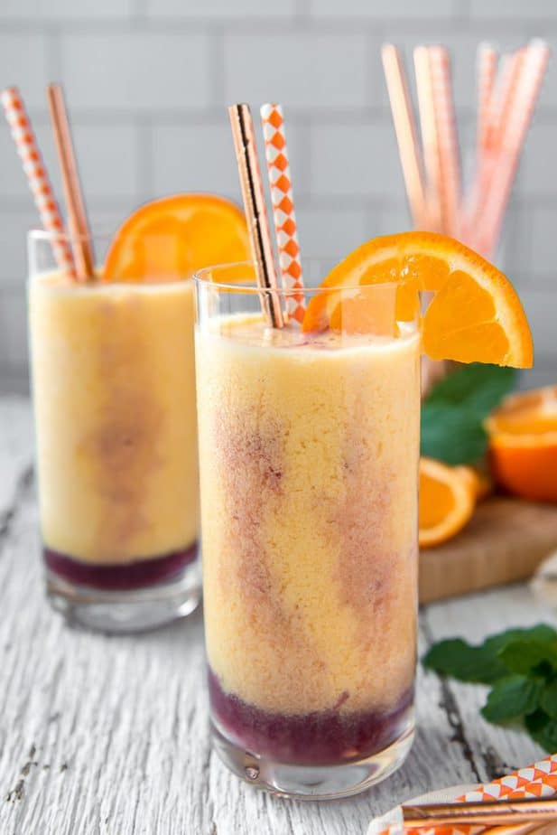 Two Triple Orange Julius in Joyjolt glasses