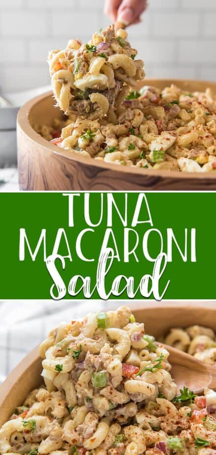 Summer truly begins with your first bite of Tuna Macaroni Salad! This nostalgic pasta side dish combines tender macaroni, tuna fish, freshly chopped veggies, and creamy dressing - a perfect addition to any picnic or BBQ!