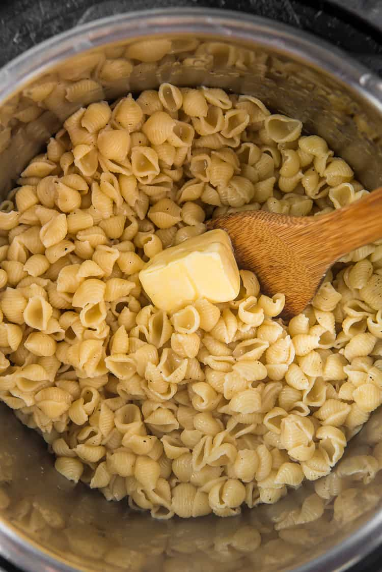 pasta and butter in a n instant pot