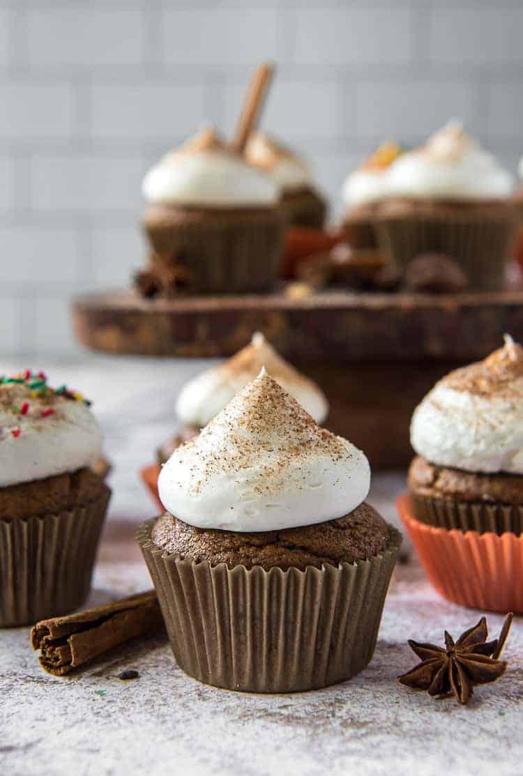 Chai Pumpkin Cupcakes #PumpkinWeek