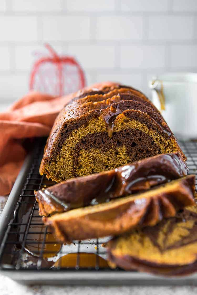 Swirled Chocolate Pumpkin Bread #PumpkinWeek