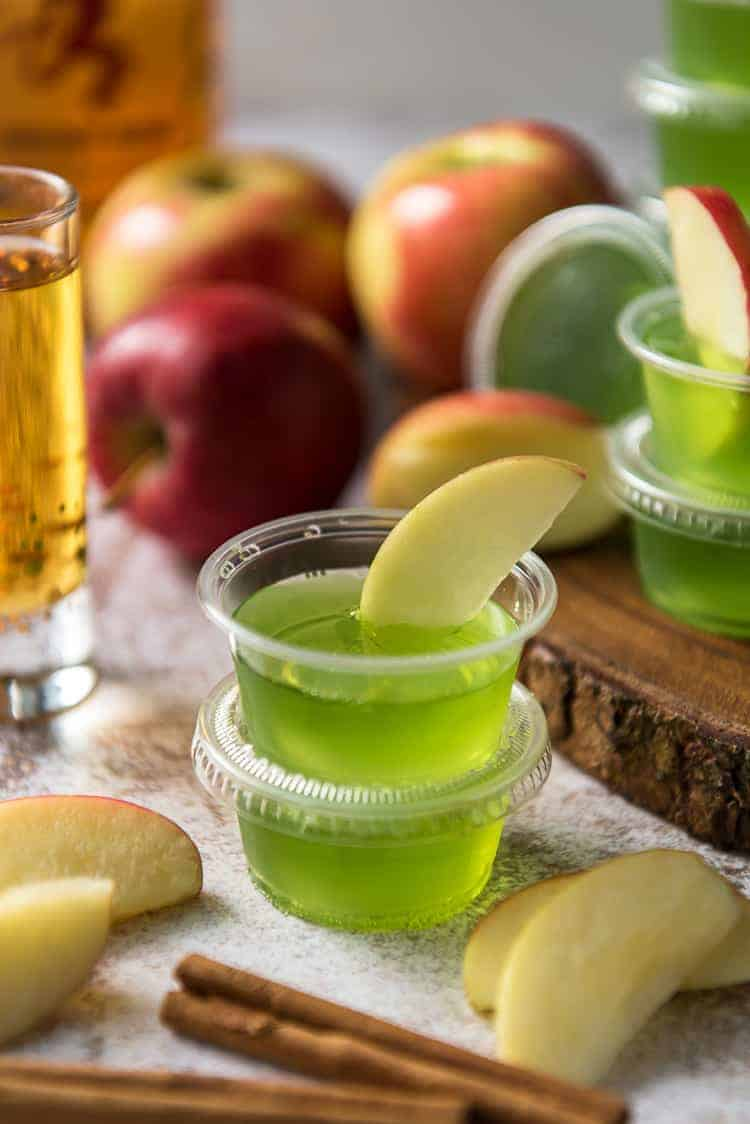 Cinnamon Apple Jello Shots