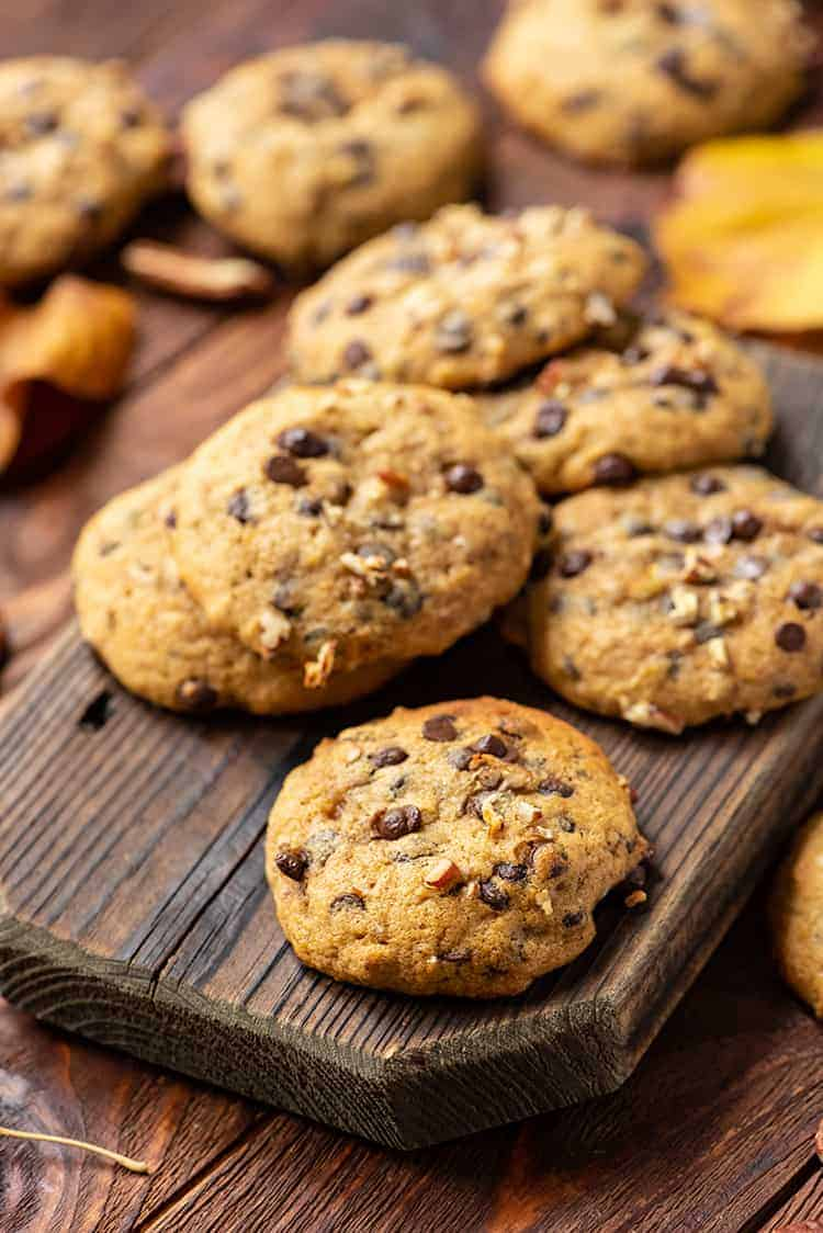Pecan Pumpkin Chocolate Chip Cookies